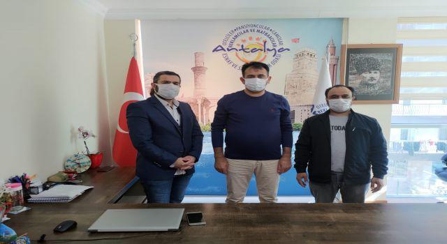 ATKED ten Antalya Otelciler Pansiyoncular Camcılar Reklamcılar ve Matbaacılar Esnaf Odası' na Ziyaret