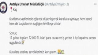 KAŞ' ta CORONA PARTİSİ ne POLİS BASKINI